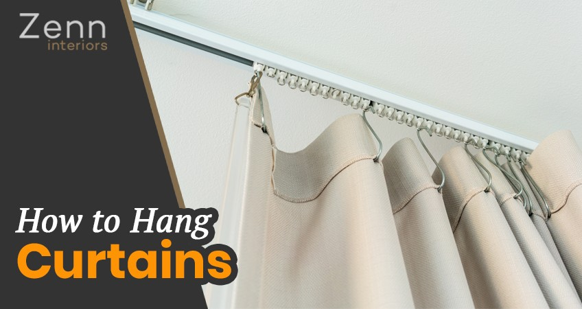 How To Hang Curtains Curtain Hanging Tips, How To Hang A Curtain With Rings
